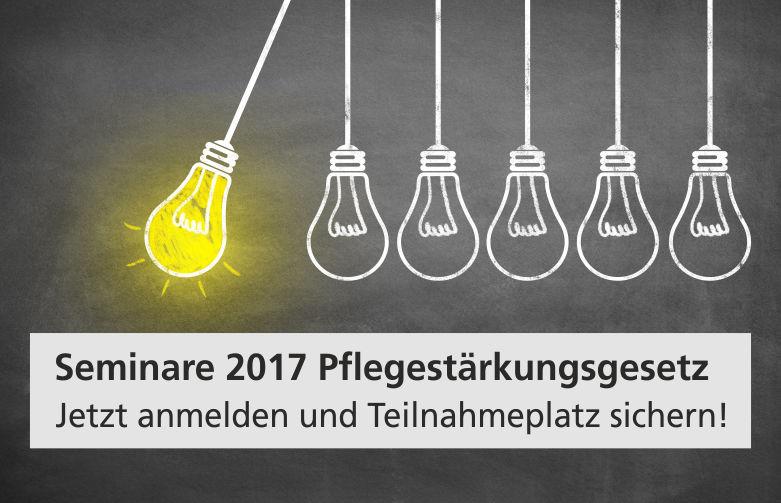Symbolbild für Seminar 2017 im Bereich Pflegestärkungsgesetz.